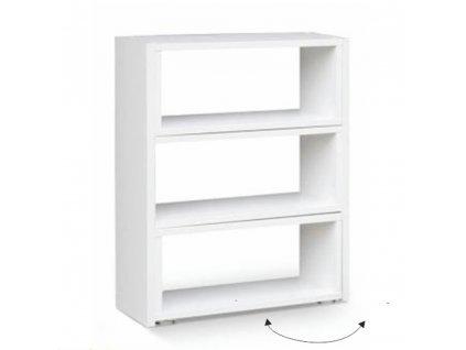 Regál, bílý, DTD laminovaná, KLOE III