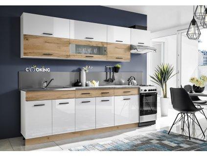 Kuchyně KORAL 280 wotan/bílý lesk