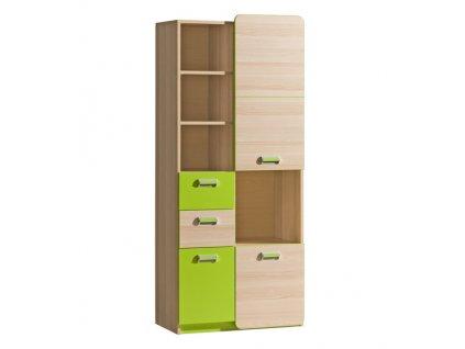 LIMO L7 kombinovaná skříň jasan/zelená