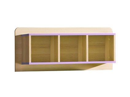 LIMO L9 závěsný regál fialový