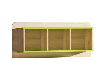 LIMO L9 závěsný regál jasan/zelená