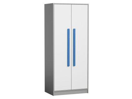 Šatní skříň GYT 1 antracit/bílá/modrá
