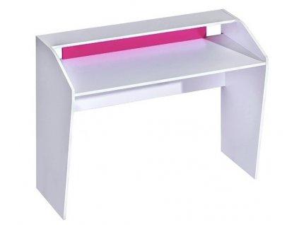 Pracovní stůl TRAFICO 9 bílá/růžová