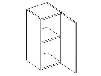 W30P horní skříňka jednodvéřová NORA hruška