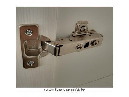 Horní skříňka se sklem, bílá / sosna skandinávská, ROYAL G60S