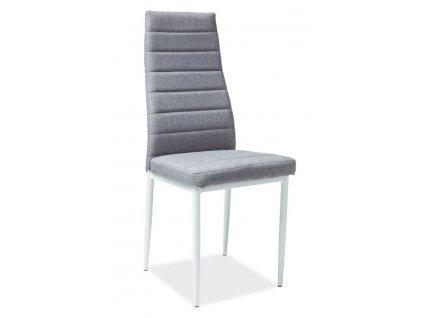 Jídelní čalouněná židle H-266 šedá