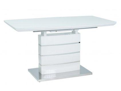 Jídelní stůl rozkládací LEONARDO 140x80 bílá/nerez