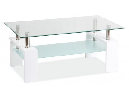 Konferenční stolek LISA BASIC II - bílý