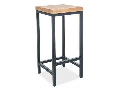 Barová židle METRO H-1 dřevo/kov