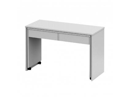 Rozkládací PC stůl se šuplíky, bílá, Versal NEW