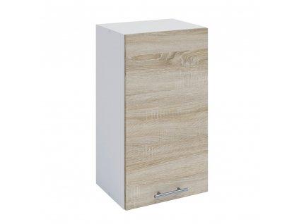 Horní skříňka, dub sonoma / bílá, FABIANA W - 40
