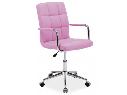Kancelářská židle Q-022 růžová