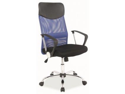 Kancelářská židle Q-025 modrá/černá