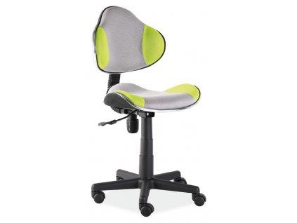 Kancelářská židle Q-G2 šedá/zelená