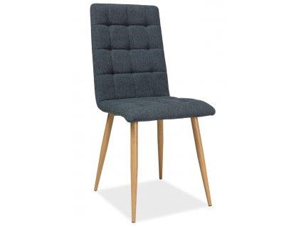 Jídelní čalouněná židle OTTO grafit/dub