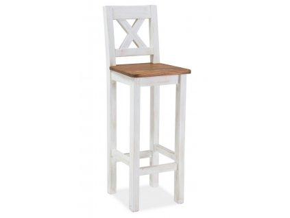 Barová židle Poprad borovice patina/hnědá