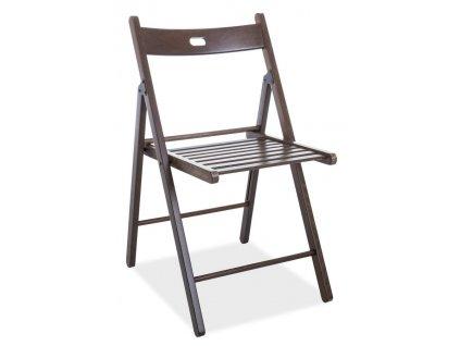 Dřevěná skládací židle SMART II tmavý ořech