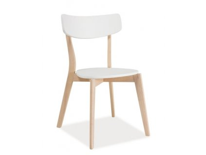 Jídelní židle TIBI bílá/dub