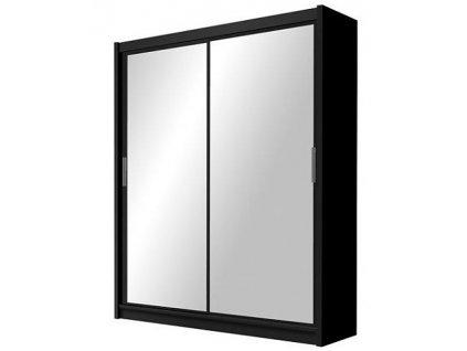Šatní skříň PEIRRE 120 černá