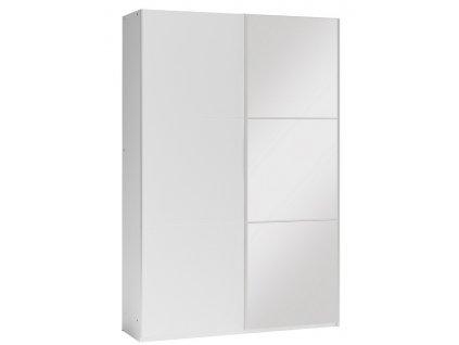 Šatní skříň VIGO 120 bílá/bílá