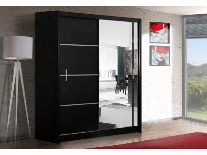 Šatní skříň SANDINO 180 černá