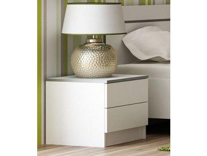 Noční stolek SANDINO bílá