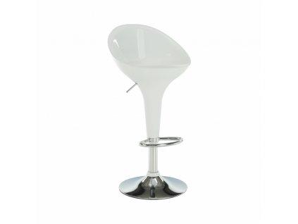 Barová židle, bílá / chrom, ALBA NOVA