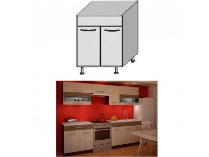 Spodní dřezová skříňka, rigolletto light / rigolletto dark / wenge, JURA NEW IA DZ-80