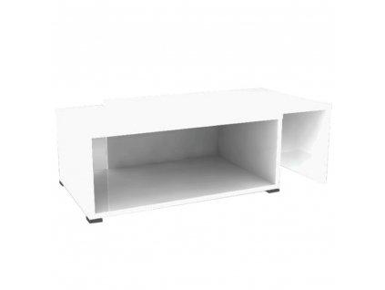 Konferenční rozkládací stolek, bílá, DRON