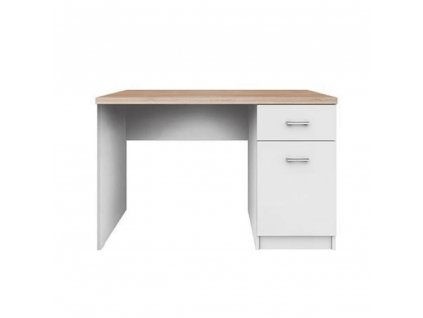 PC stůl 1D1S, bílá / dub sonoma, TOPTY TYP 09