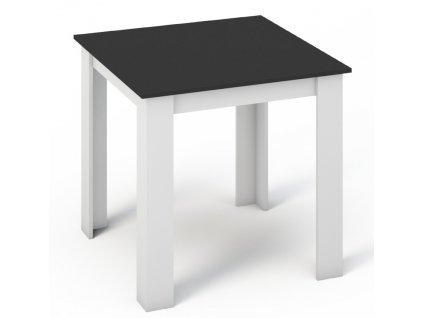 Jídelní stůl MANGA 80x80 bílá/černá