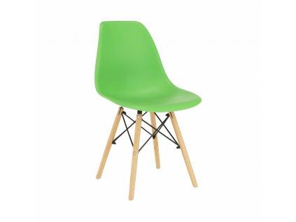 Židle, zelená / buk, CINKLA 3 NEW