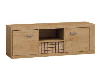 Televizní stolek 2D1S NATURAL N12 dub ribbeck/vlnka