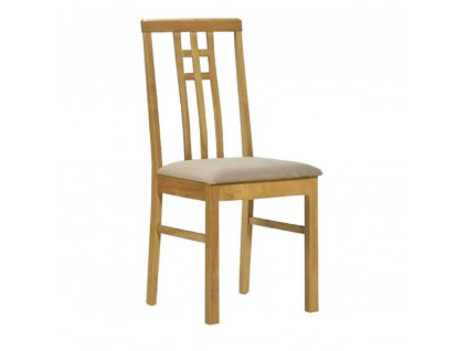 Jídelní židle, dub sonoma/látka krémová, SILAS