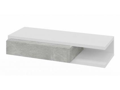 Konzolový stolek HOLLY bílá/šedý mramor