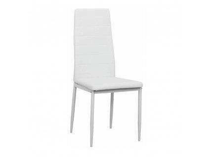 Židle, ekokůže bílá/kov bílá, COLETA