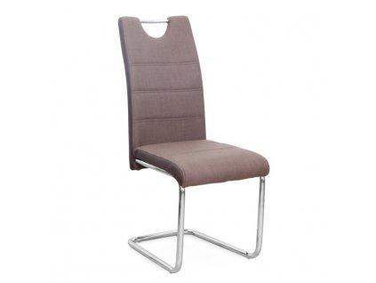 Židle, látka hnědá / ekokůže hnědá / chrom, Izma