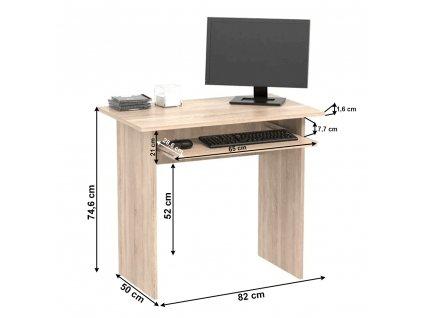 PC stůl, dub sonoma, VERNER NEW