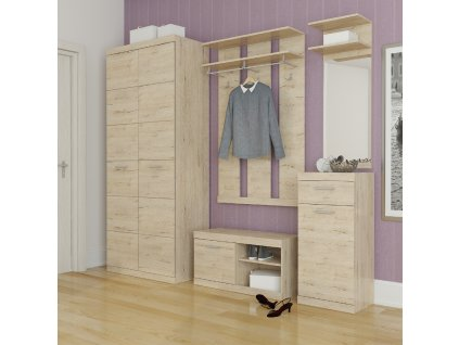Panel se zrcadlem 45, dub san remo, ORESTES