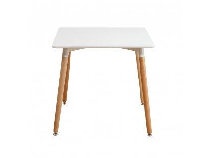 Jídelní stůl, bílá/buk, DIDIER 3 NEW