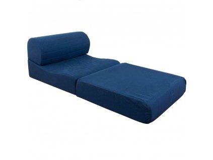 Rozkládací křeslo PEDRO 2v1 k příležitostnému využití na spací matraci : Tmavě oranžový