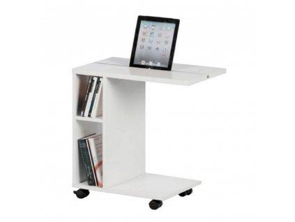 Příruční stolek, bílá, NIDEN