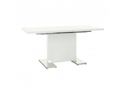 Rozkládací jídelní stůl, bílá vysoký lesk HG, IRAKOL