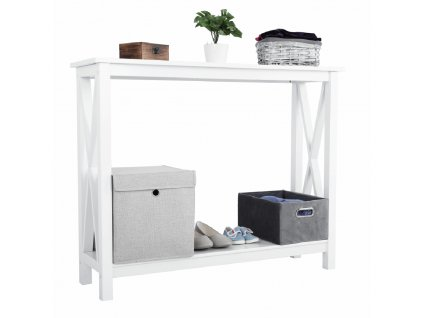 Konzolový stolek, bílá, SONET