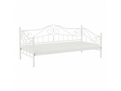 Kovová postel, bílá, 90x200, DAINA