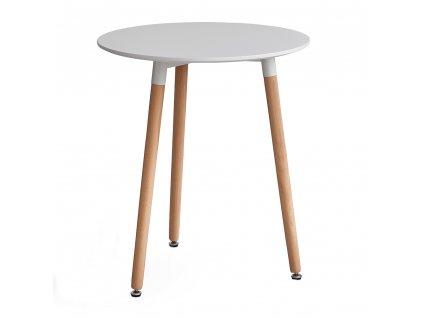 Jídelní stůl, bílá/buk, ELCAN 60