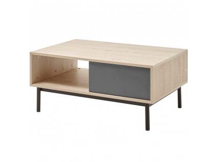 Konferenční stolek, dub jaskson hickory/grafit, BERGEN BL104