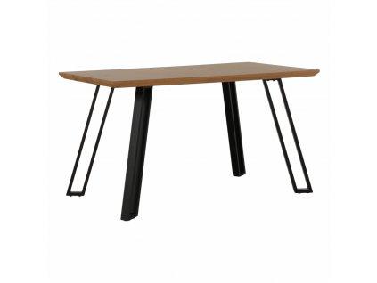 Jídelní stůl, dub/černá, PEDAL
