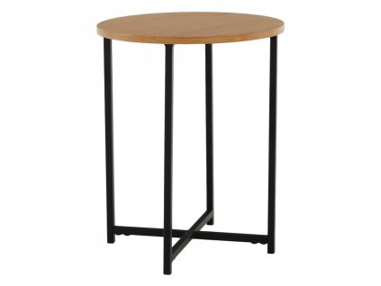 Příruční stolek, dub/černý kov, IMSAR