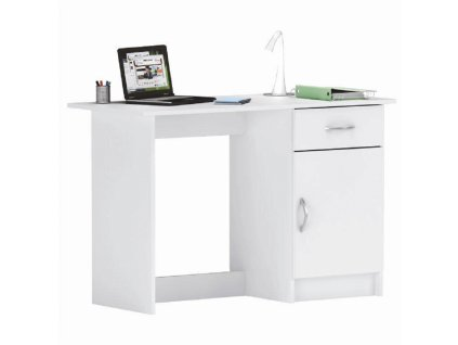 Univerzální PC stolek, bílá, SIRISS